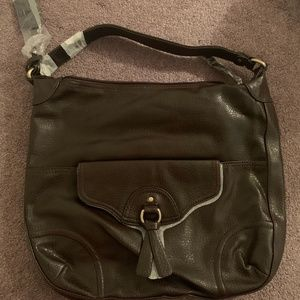 UNUSED Brown Tommy Hilfiger Slouch Bag purse